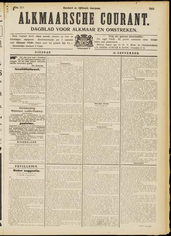 Alkmaarsche Courant 1913-09-16