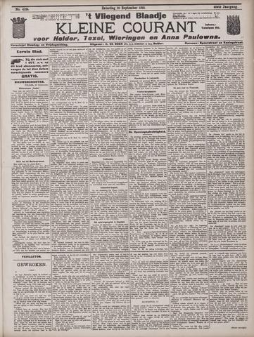 Vliegend blaadje : nieuws- en advertentiebode voor Den Helder 1912-09-21