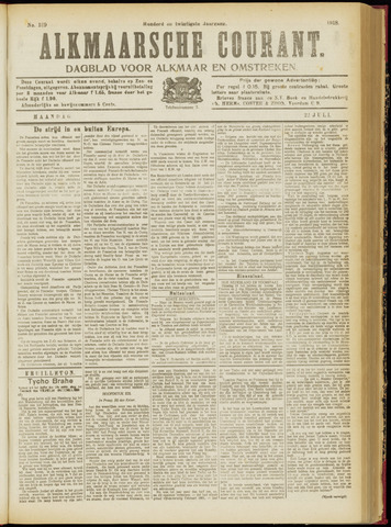 Alkmaarsche Courant 1918-07-22