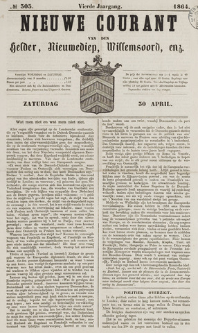 Nieuwe Courant van Den Helder 1864-04-30