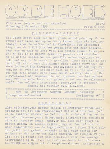 Op De Hoek, weekblad voor Akersloot 1955-12-03