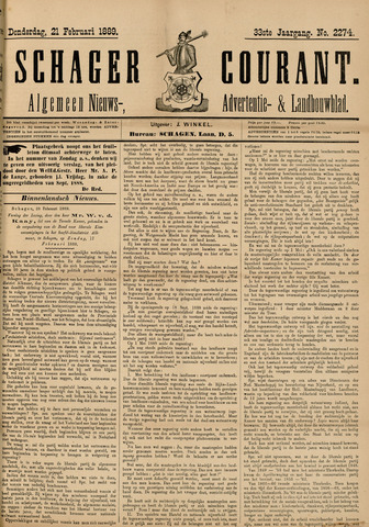 Schager Courant 1889-02-21