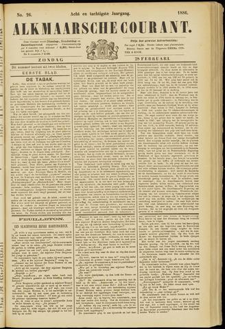Alkmaarsche Courant 1886-02-28