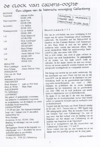 De Clock van Callens-Ooghe 1992-03-01