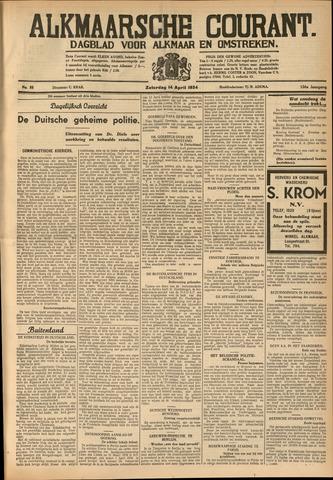 Alkmaarsche Courant 1934-04-14