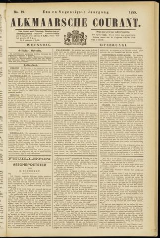 Alkmaarsche Courant 1889-02-13