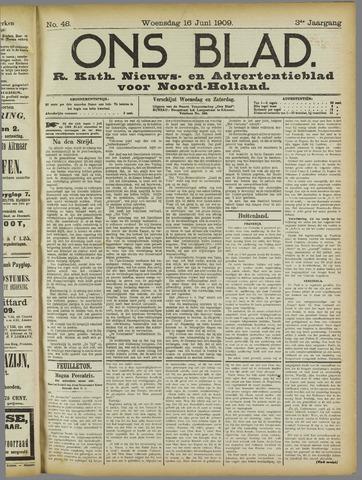 Ons Blad : katholiek nieuwsblad voor N-H 1909-06-16