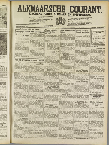 Alkmaarsche Courant 1941-08-29
