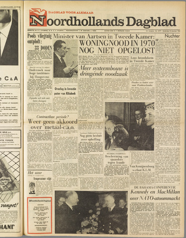 Noordhollands Dagblad : dagblad voor Alkmaar en omgeving 1962-12-20