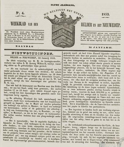 Weekblad van Den Helder en het Nieuwediep 1853-01-24