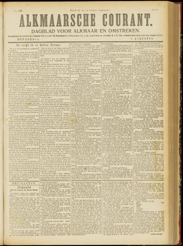 Alkmaarsche Courant 1918-08-01