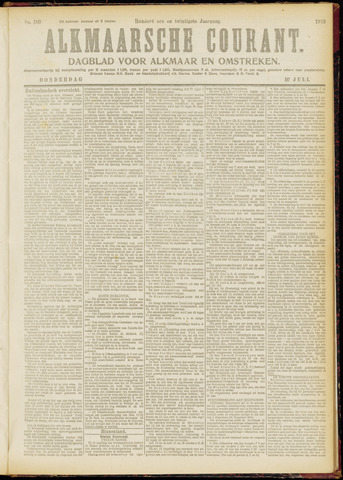 Alkmaarsche Courant 1919-07-10