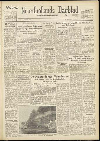 Nieuw Noordhollandsch Dagblad : voor Alkmaar en omgeving 1948-09-13