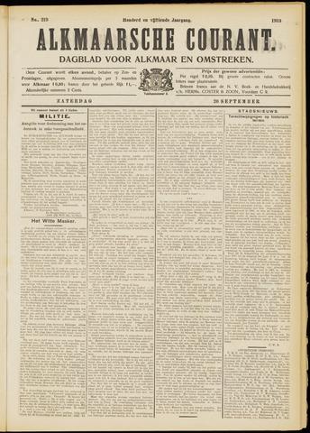 Alkmaarsche Courant 1913-09-20
