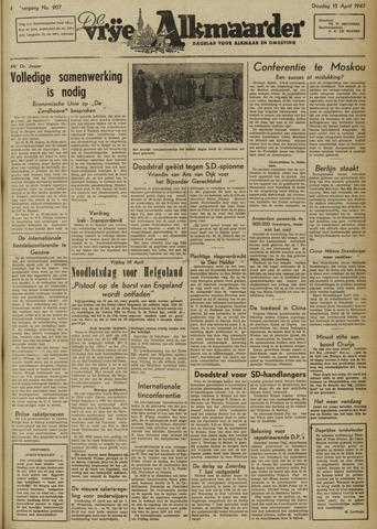 De Vrije Alkmaarder 1947-04-15