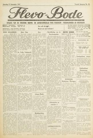 Flevo-bode: nieuwsblad voor Wieringen-Wieringermeer 1947-09-27