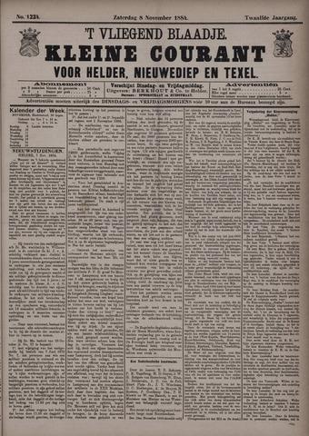 Vliegend blaadje : nieuws- en advertentiebode voor Den Helder 1884-11-08