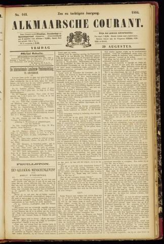 Alkmaarsche Courant 1884-08-29