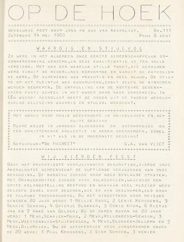 Op De Hoek, weekblad voor Akersloot 1960-05-14