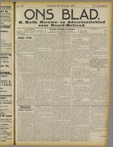 Ons Blad : katholiek nieuwsblad voor N-H 1911-10-31