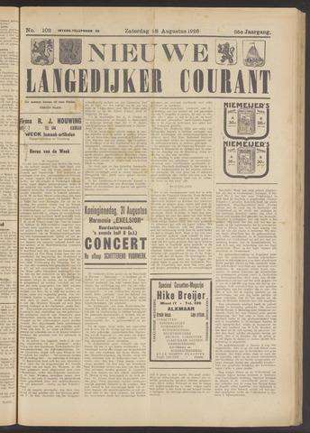 Nieuwe Langedijker Courant 1926-08-28