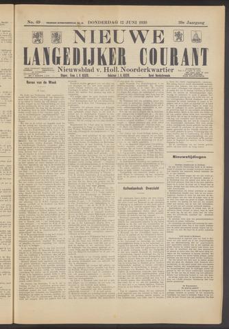 Nieuwe Langedijker Courant 1930-06-12