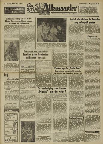 De Vrije Alkmaarder 1949-08-10