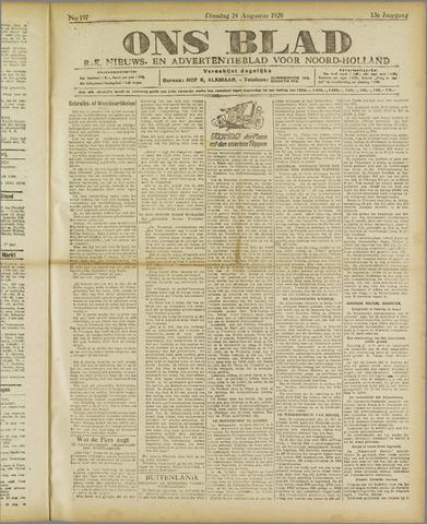 Ons Blad : katholiek nieuwsblad voor N-H 1920-08-24