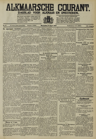 Alkmaarsche Courant 1937-04-14