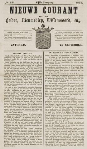 Nieuwe Courant van Den Helder 1865-09-23