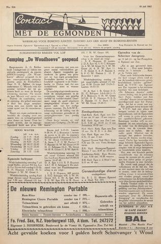 Contact met de Egmonden 1962-07-19