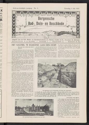 Bergensche bad-, duin- en boschbode 1937-07-03