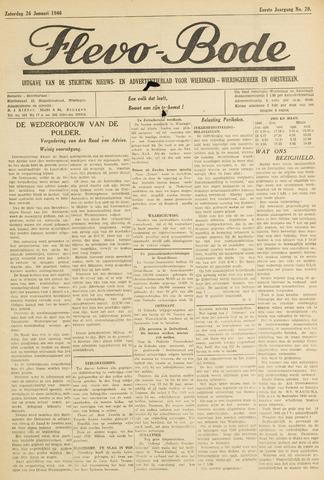 Flevo-bode: nieuwsblad voor Wieringen-Wieringermeer 1946-01-26