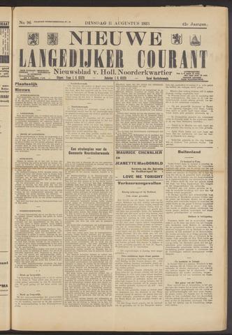 Nieuwe Langedijker Courant 1933-08-15