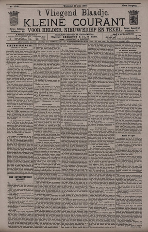 Vliegend blaadje : nieuws- en advertentiebode voor Den Helder 1895-06-12