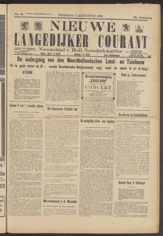 Nieuwe Langedijker Courant 1933-08-01