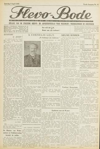Flevo-bode: nieuwsblad voor Wieringen-Wieringermeer 1949-04-09