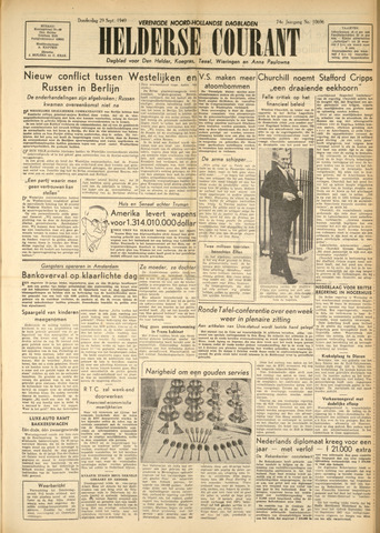Heldersche Courant 1949-09-29