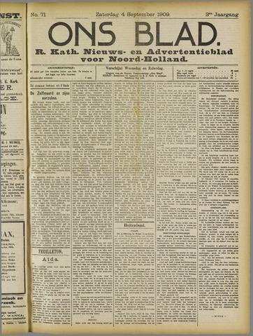Ons Blad : katholiek nieuwsblad voor N-H 1909-09-04