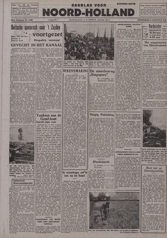 Dagblad Noord-Holland, Schager editie 1942-08-06