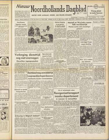 Nieuw Noordhollandsch Dagblad : voor Alkmaar en omgeving 1949-11-17