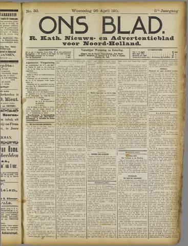 Ons Blad : katholiek nieuwsblad voor N-H 1911-04-26