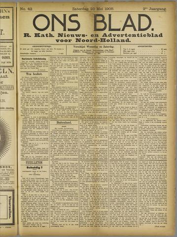 Ons Blad : katholiek nieuwsblad voor N-H 1908-05-23
