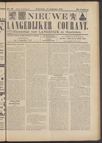 Nieuwe Langedijker Courant 1925-08-20