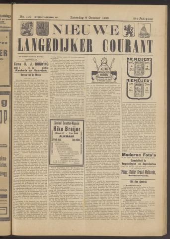 Nieuwe Langedijker Courant 1926-10-09