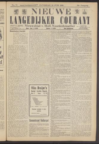 Nieuwe Langedijker Courant 1930-06-28