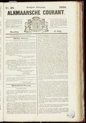 Alkmaarsche Courant 1858-07-12