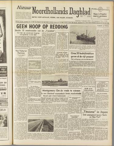 Nieuw Noordhollandsch Dagblad : voor Alkmaar en omgeving 1950-01-14