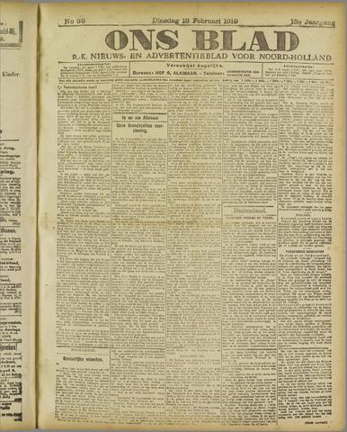 Ons Blad : katholiek nieuwsblad voor N-H 1919-02-18