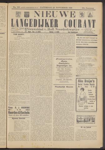 Nieuwe Langedijker Courant 1929-11-23
